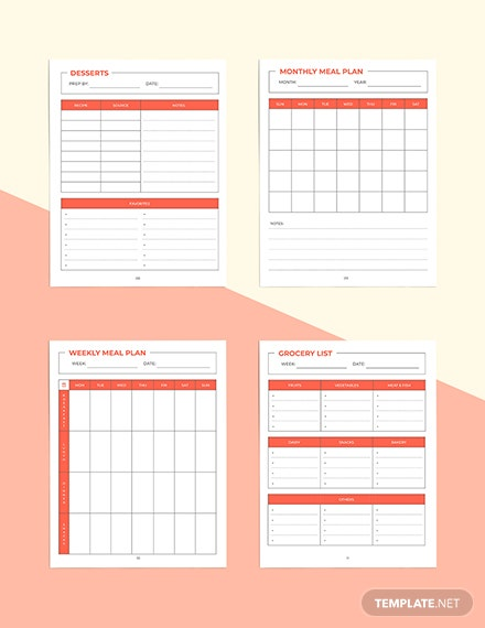 Personal Recipe Planner Example
