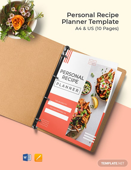 Personal Recipe Planner Template