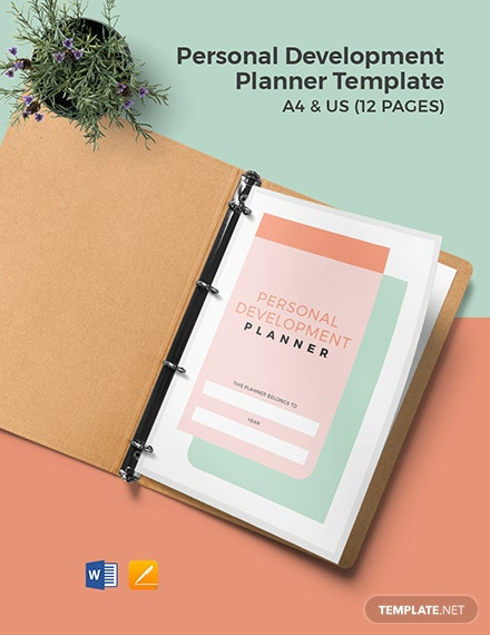 Personal Development Planner Template