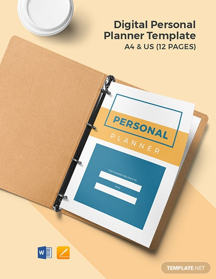 Digital Personal Planner Template