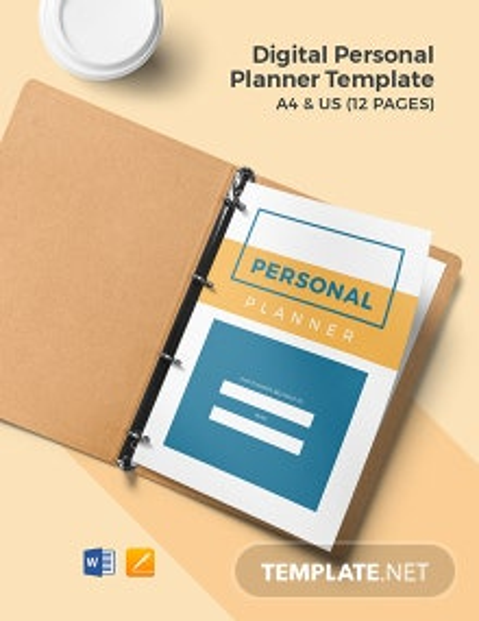 Digital Personal Planner Template