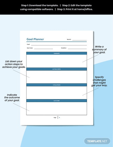 Editable Monthly Personal Planner