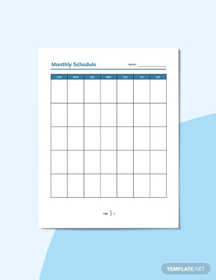 Monthly Personal Planner Format