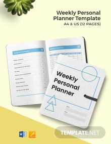 Weekly Personal Planner Template