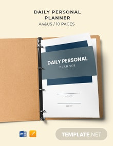 Daily Personal Planner Template