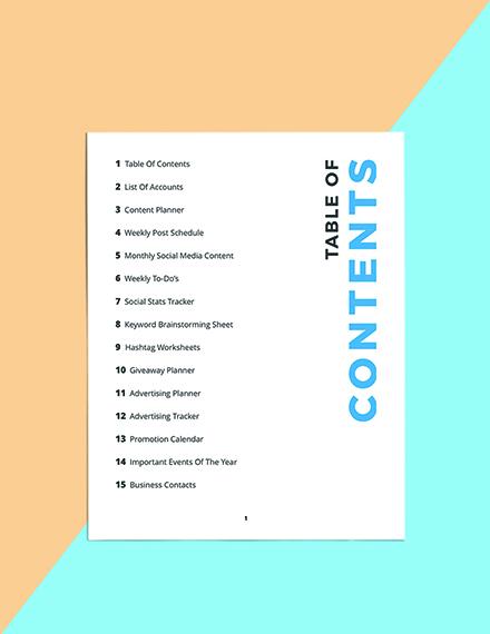 Digital Media Planner Template Download