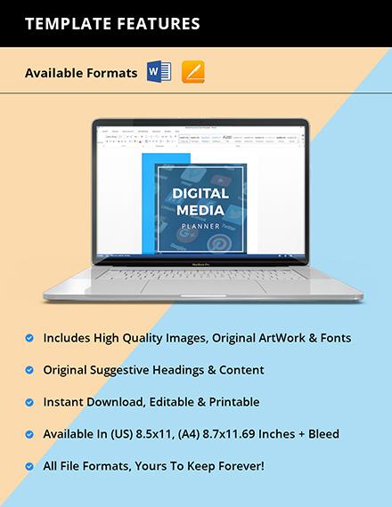 Digital Media Planner Template Instruction