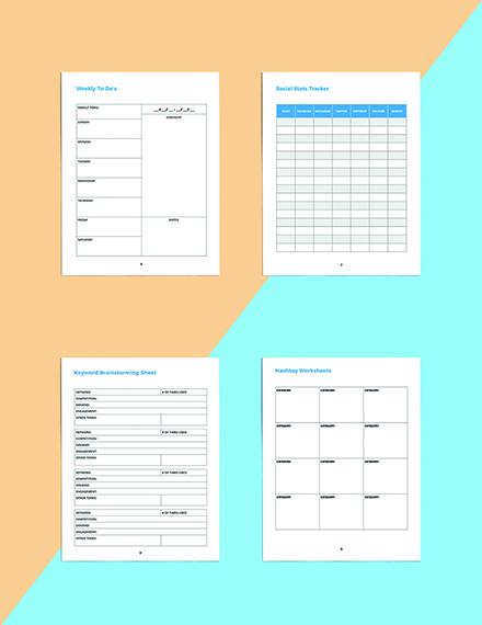 Digital Media Planner Template Printable