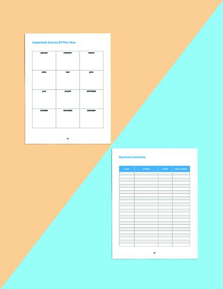 Digital Media Planner Template Readable