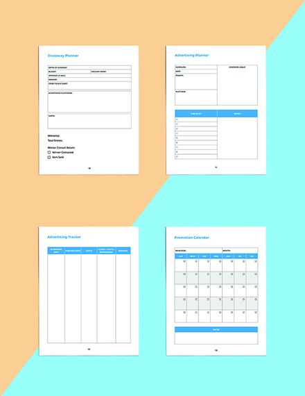 Digital Media Planner Template Sample