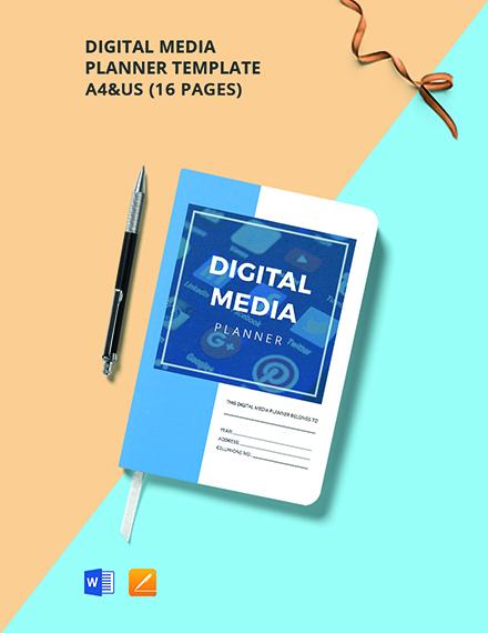 Digital Media Planner Template