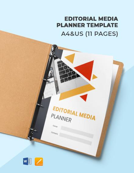 Editorial Media Planner Template