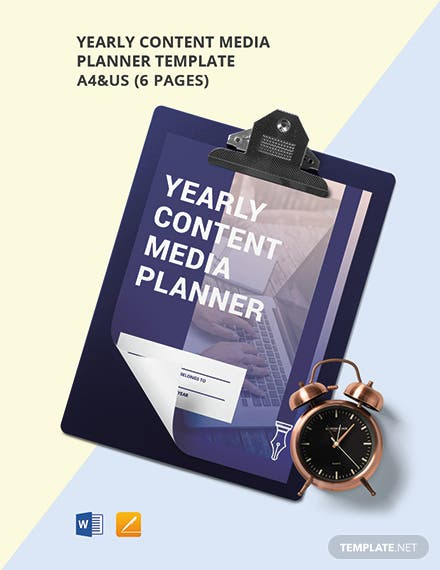 Yearly Content Media Planner Template