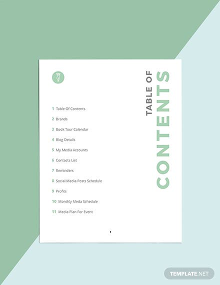 Author Media Planner Template Download