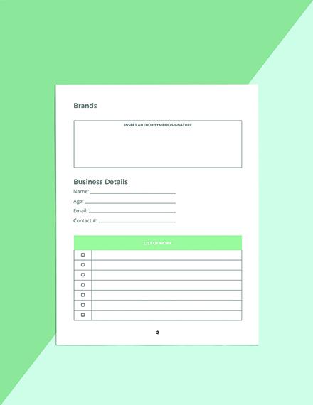 Author Media Planner Template Editable