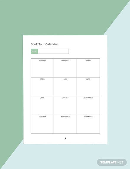 Author Media Planner Template Example