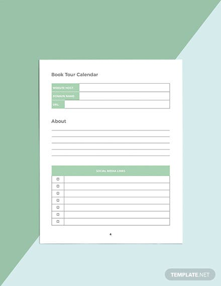 Author Media Planner Template Format