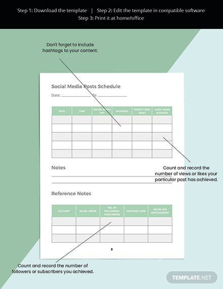 Author Media Planner Template Readable