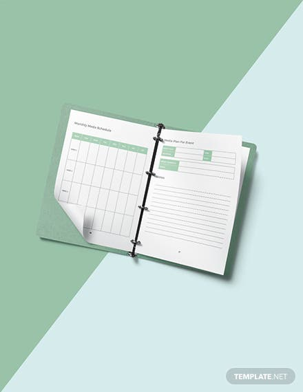 Author Media Planner Template Sample