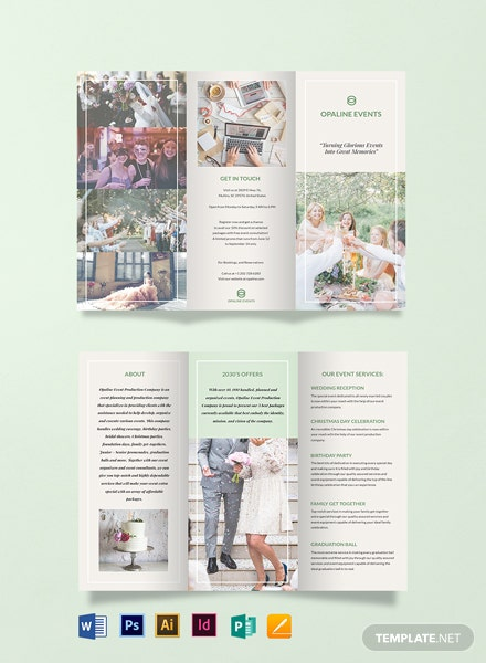 Elegant Event TriFold Brochure Template