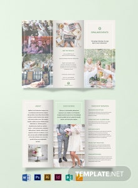 Free Elegant Event Tri-Fold Brochure Template