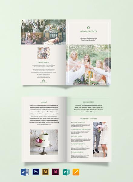Free Elegant Event Bi-Fold Brochure Template