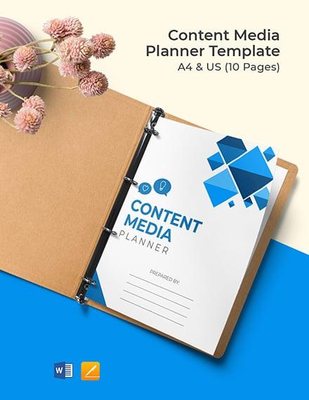 Content Media Planner Format