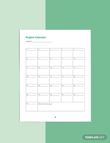 Software Development Planner Template Example