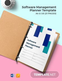 Software Management Planner Template