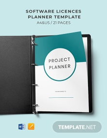 Software Licences Planner Template