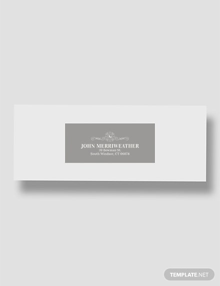 Free Monogram Address Label Template