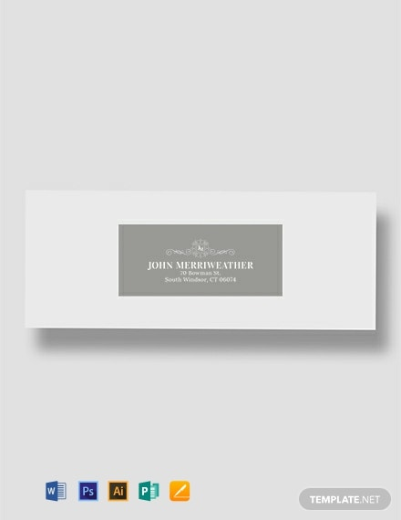 Free Monogram Address Label Template