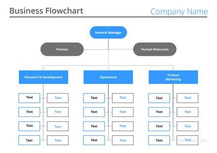 Business Flow chart Template