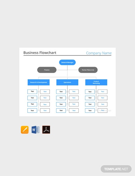 Free-Business-Flow-chart-Template