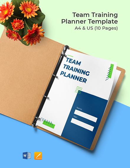Team Training Planner Template