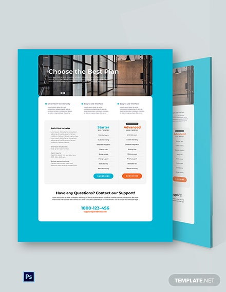 Free Boxed Style Pricing Page PSD Template