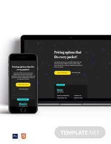 Dark Pricing Page Template