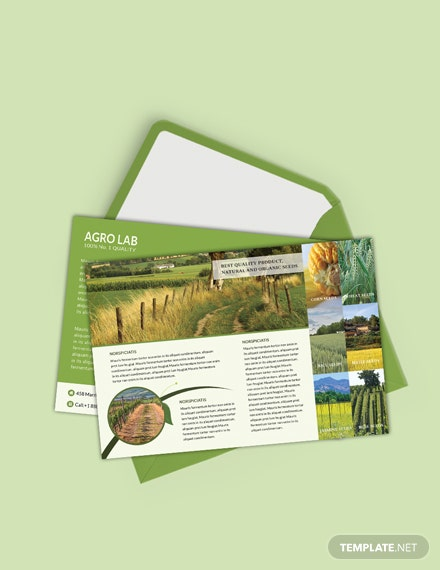 Agriculture Postcard Template