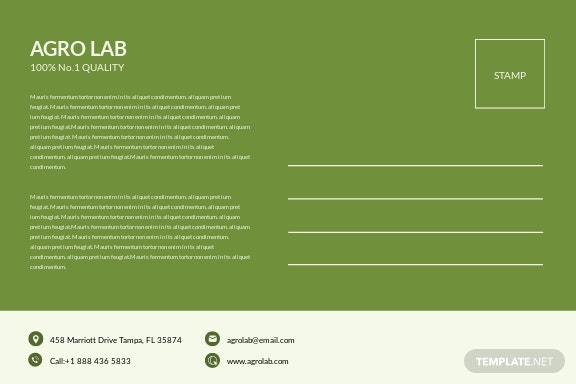 Free Agriculture Postcard Template 1.jpe