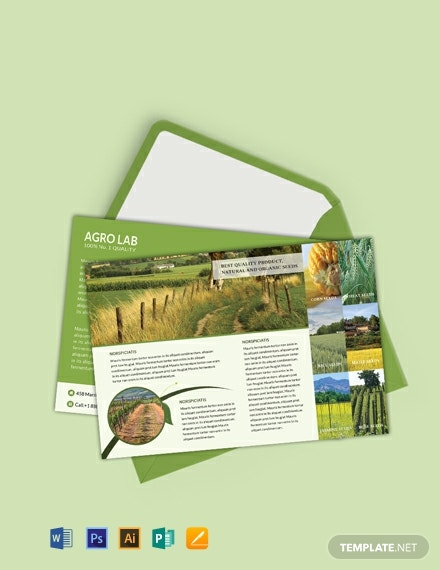 Free Agriculture Postcard Template