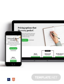 Detailed Pricing Page Template