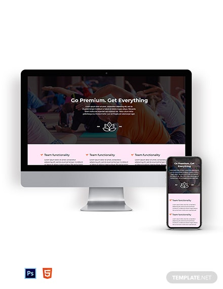 Fitness Pricing Page Template