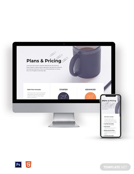 Simple Creative Pricing Page Template
