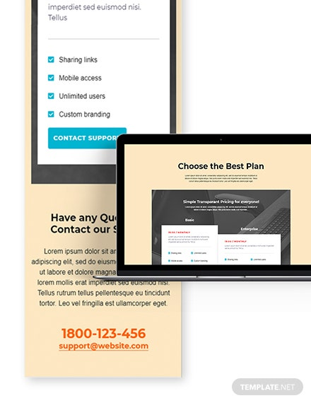 Single Pricing Page Template