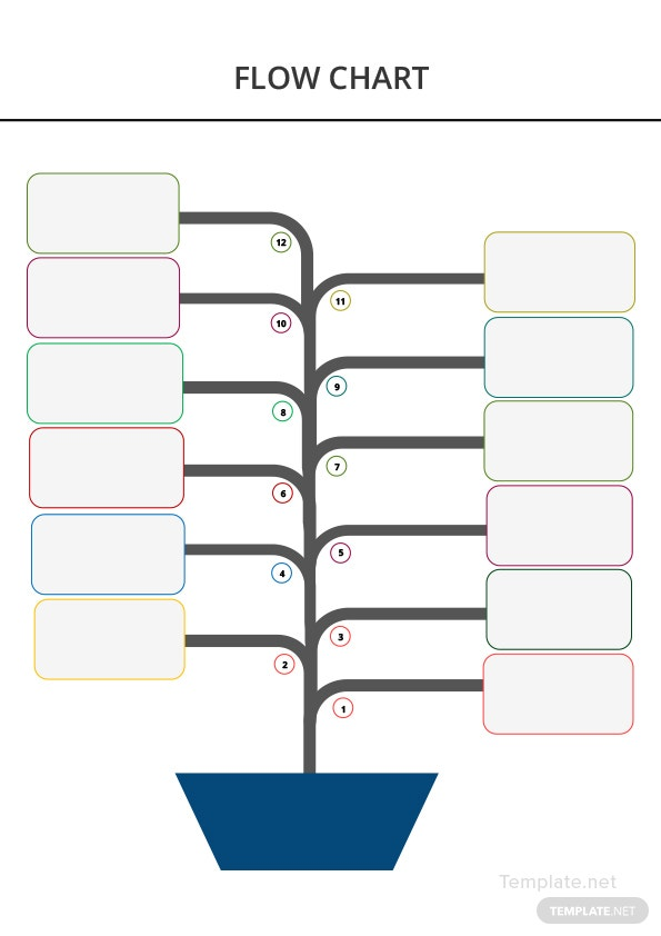 Blank Flow Chart Template in Microsoft Word Templatenet