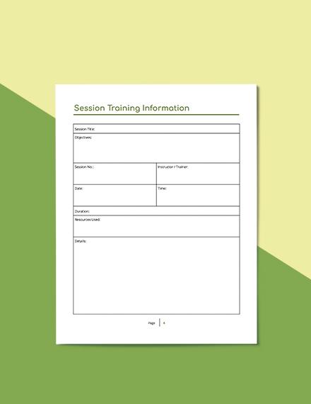 Staff Training Planner Download