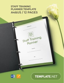 Staff Training Planner Template