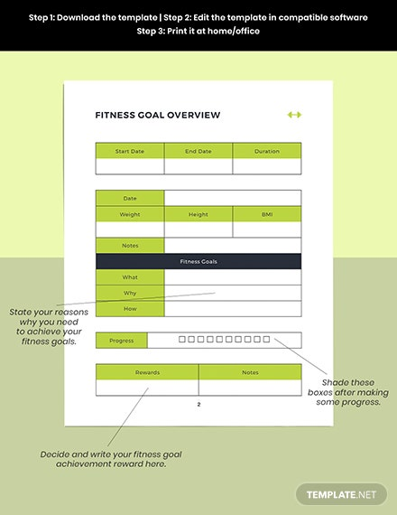 Fitness Training Overview Planner