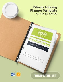 Fitness Training Planner Template