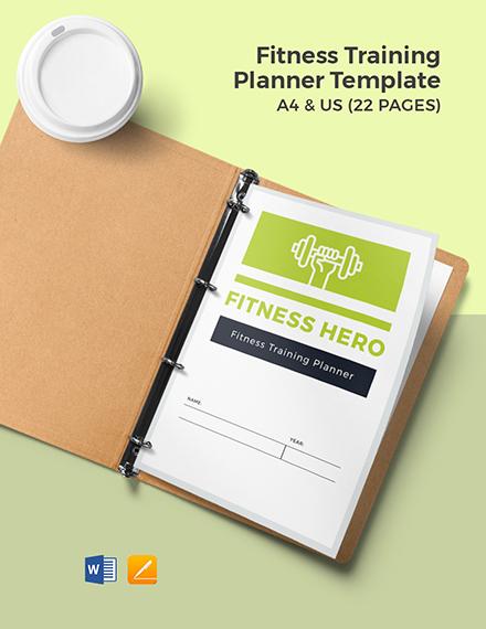Fitness Training Planner Template